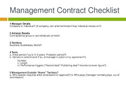 music management contract artist management contract template