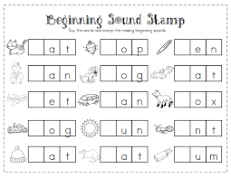 These beginning sound worksheets are just for exposure and her enjoyment {and to sneak in some letter sound review}. Beginning Sound Stamp Pdf Word Work Kindergarten Teaching Literacy Phonics