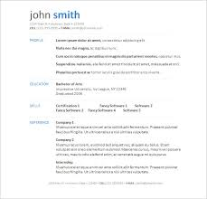Resume Template Word Free Download Simply Simple Resume Templates