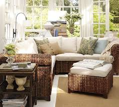 sun room furniture. Seagrass Sectional Ottoman | Pottery Barn More Sun Room Furniture