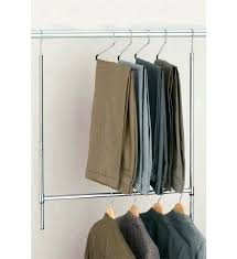 clothes rod pull down extra closet center support