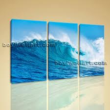 sea wave painting wall art set