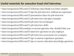 Executive Chef Interview Questions Top 10 Executive Head Chef Interview Questions And Answers