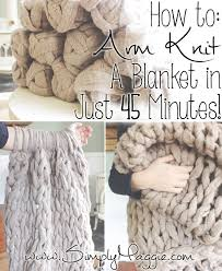 Arm Knit Blanket Pattern Gorgeous Arm Knit A Blanket In 48 Minutes By Simply Maggie SimplyMaggie