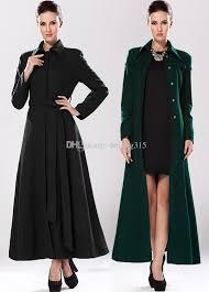 2018 y western plus size winter coats women las black wool coat ankle length woolen overcoat long tunic outwear with belt from beijing315