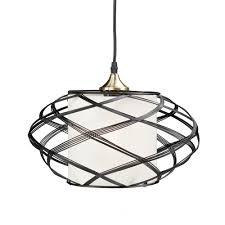 sultano 1 light matte black wire cage pendant lamp