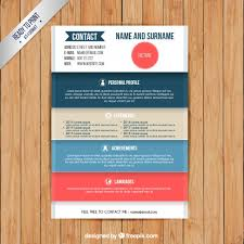 colors resume template free vector colorful resume template free download