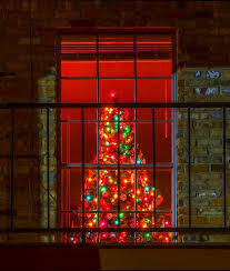 Old Fashioned Christmas Tree In Window Burnaby Village Museum Christmas Tree In Window