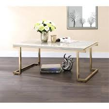 acme coffee table acme ii coffee table in faux marble and champagne acme vendome coffee table