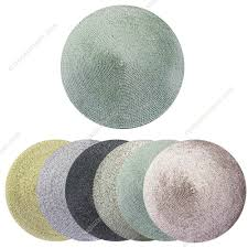 picturesque washable plastic round beaded placemats table mats vinyl for black home design formidable list wedge