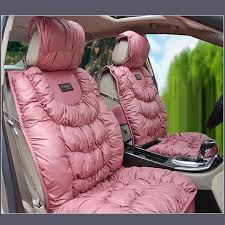 ax18791c 836827 pinkfront ax18791c 836827 pinkfront luxury plush padded pearl pink color pu leather cushion seat cover protectors
