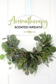 aromatherapy scented wreath with eucalyptus and incense cedar