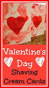 Valentine's Day Cards using Shaving Cream