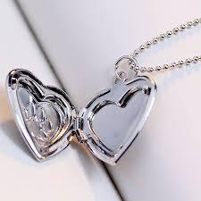 silver pet memorial necklace with photo locket
