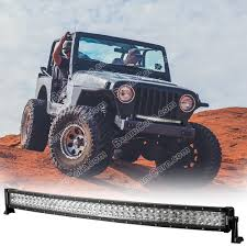 Utv Light Bar Led Light Bar Curved Beamcorn 42 Inch 45 W Brackets