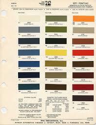 1965 Pontiac Color Chart 1971 Pontiac Gto Paint Chart Color Choice For Gto Orbit