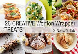 Wonton wrappers filled with a lemon yogurt and fresh fruit, these dessert dumplings are guaranteed to be a hit! 26 Creative Bites Made With Wonton Wrappers Recipetin Eats