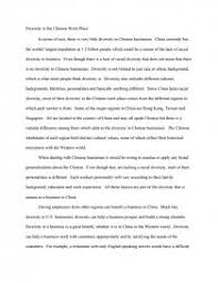 diversity in the chinese workplace college essays zoom