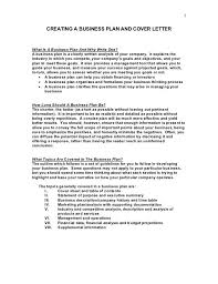 Contents Of A Cover Letter Cool 48 CREATING A BUSINESS PLAN AND COVER LETTERWhat Is A Business Plan