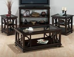 panama 4 piece coffee table set w shelf glass insert casters c book