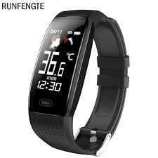 <b>RUNFENGTE</b> 2020 <b>Smart Watch</b> T5 Body Temperature Waterproof ...