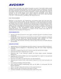 resume cnc operator cnc operator resume sample template