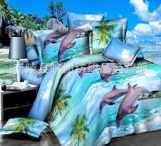 Aliexpress.com : Buy 3D Dolphin quilt cover Bedding set Blue Sea ... & Aliexpress.com : Buy 3D Dolphin quilt cover Bedding set Blue Sea duvet  covers bed in a bag sheets bedspreads linen doona Queen size Full double  4PCS from ... Adamdwight.com