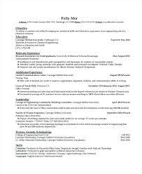 Sample Chemical Engineering Resume Graduate Resume Sample Entry