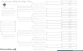 family tree template printable pedigree free genealogy chart 4 generation with siblings f
