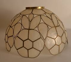 American Pair Capiz Shell Lamp Shades For Sale