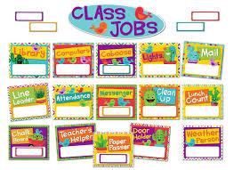 Classroom Jobs Chart Eureka A Sharp Bunch Classroom Jobs Bulletin Board Set 40 Pcs