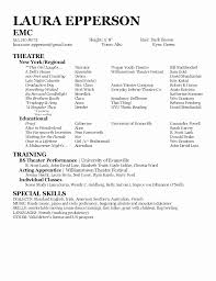 Acting Resume Templates Interesting Voice Over Resume Sample Best Of Resume Template For Actors Resume
