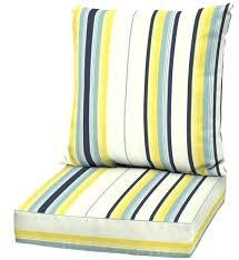 deep patio cushions yellow striped deep seat patio cushion outdoor 2 piece replacement cushions blue deep deep patio cushions