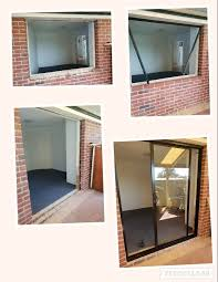 removal of sliding glass window and cut out to install a sliding glass door conversion