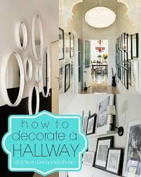 narrow hallway decorating
