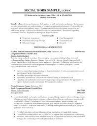sample social work resume