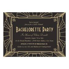 bachelorette party invite art deco style bachelorette party invitation zazzle com