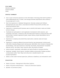 Cover Letter Sample Of Business Analyst Resume Sample Resume Of
