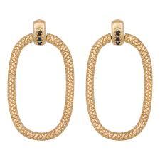 door knocker earrings in gold plated sterling silver