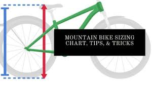 mountain bike sizing chart with tips