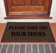 Doormat please remove shoes doormat images : Please Take Off Your Shoes Door Mat | Buy Online | Mats4U