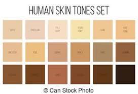 Creative Vector Illustration Of Human Skin Tone Color