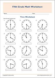 Free Printable Telling Time Worksheets – EduMonitor