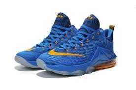 lebron james shoes 12 low. nike lebron 12 low \u0027entourage\u0027 photo blue gold basketball shoes [lebron00077] - $81.30 : james