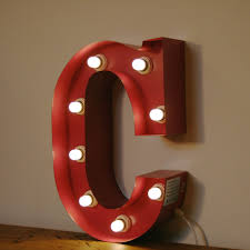Vintage Circus Marquee Light Up Letter C Pink 1