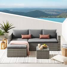 wicker outdoor sectional sofa set pier 1