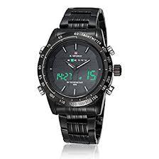 buy watches men naviforce luxury brand full steel quartz clock watches men naviforce luxury brand full steel quartz clock digital led watch army military sport watch