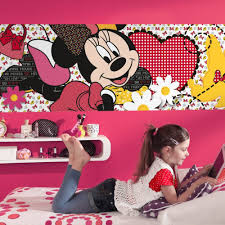 Minnie Mouse Bedroom Wallpaper Minnie Mouse Dream Wallpaper Great Kidsbedrooms The Children