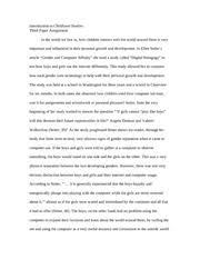 literature of childhood compare contrast essay notes 4 pages essay on affects of gender on childhood