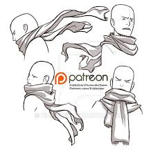 drawing reference reminds me of that psychic danganronpa character scarves reference sheet by kibbitzer on deviantart